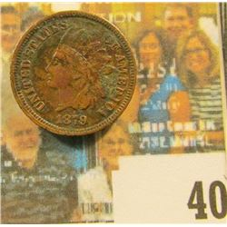 1879 Indian Head Cent, Dark VF.