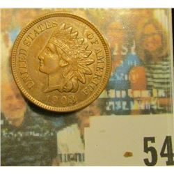 1903 Indian Head Cent, Brown AU.