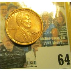 1925 P Lincoln Cent, Red Uncirculated.