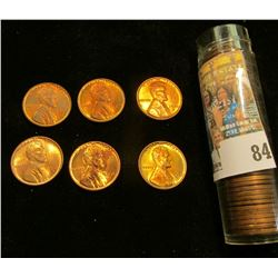 Roll of Mixed date BU Lincoln Cents. Includes 1944, 45, 46, 48, 50, 51D, 52D, 53D, 54S, & 55S.