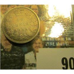 1898 Canada Silver Dime, Good.