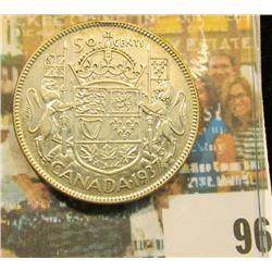 1937 Canada Half Dollar, EF.