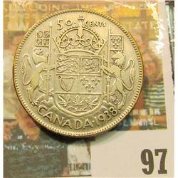 1938 Canada Half Dollar, VF.