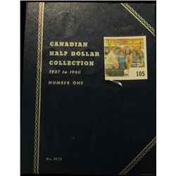 Blue Whitman folder for Canada Half Dollars & 1957 Canada Silver Half Dollar, BU.