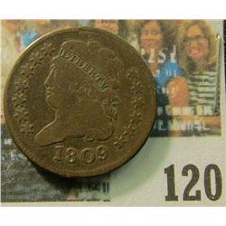 1809 U.S. Classic Head Half Cent, VG.
