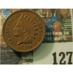 1899 U.S. Indian Head Cent, EF-AU.