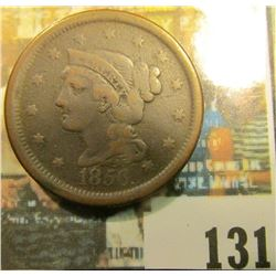 1856 U.S. Braided Hair Large Cent, VG.
