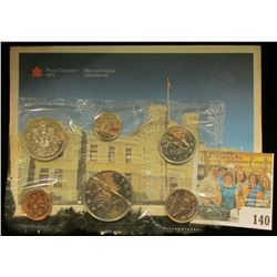 1987 Royal Canadian Mint Set, Six-piece. Original as issued. Envelope tattered on one edge.