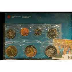 1999 Royal Canadian Mint Set, Seven-piece. Original as issued.