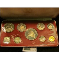 "1974 ""Commonwealth of the Bahamas"" Proof Set, nine-pieces. In original box of issue."