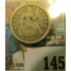 1855 Arrows at date U.S. Seated Liberty Dime, Good.
