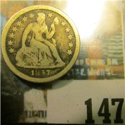 1857 O U.S. Seated Liberty Dime, Very Good.