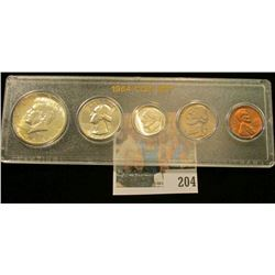 1964 P Gem BU Year Set of U.S. coins in a Snaptight case. (5 pcs.)