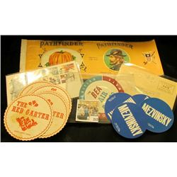 "Unused mint condition label ""Pathfinder Br& Pumpkin, May Bros., Co. Fremont, Nebraska (depicts Gener"