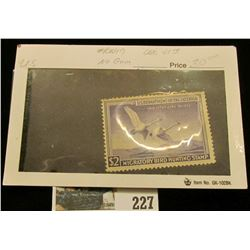 1950 Federal Migratory Waterfowl Stamp, RW 17, no gum, Mint, unused.
