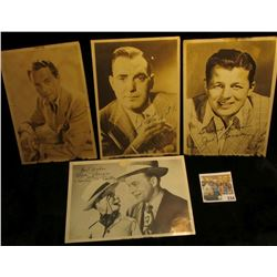 (4) different autographed B & W still Photos of famous Movie Stars including Pat O'Brien, Casa Blanc