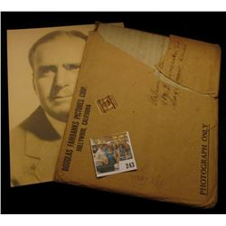 Douglas Fairbanks Pictures Corp. Hoolywood, California stamped & padded envelope with an autographed