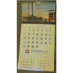 Huge 1962 St& ard Oil Company original Calendar. Excellent condition.