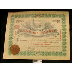 "Very elaborate Stock Certificate for 40 Shares ""X.L.N.T. Oil Company, San Francisco, Cal."" dated 190"