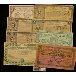Pair of early Depression era Profit Sharing Plan Punch Cards; Guilford County,  Issuer:  County of G