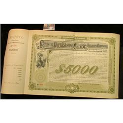"""The Chicago, Rock Isl& , & Pacific Railway Company"" Thirty Year $5000 Debenture Bond, vignette of w"