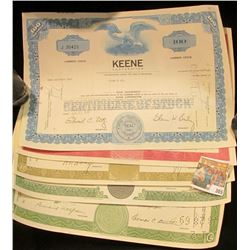 "(5) Different Stock Certificates: ""The Gr& Junction Company""; ""Glen Alden Corporation""; ""The Great A"