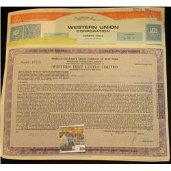 "(5) Different Stock Certificates: ""Lee Rubber & Tire Corporation""; ""Phelps Dodge Corporation""; ""West"