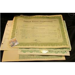 "Unissued Stock Certificate No. 20 ""Elra Export Corporation""; 20 Shares ""South Coast Life Insurance C"