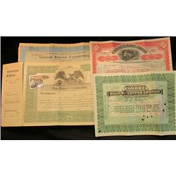 "(5) Different Stock Certificates dating back as far as 1906 & including 100 Shares of ""North Butte M"