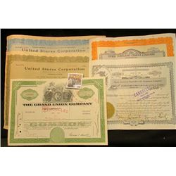 "(5) Old Stock Certificates dating back to the crash in 1929. Includes ""United States Corporation""; """