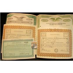 "(5) Old Stock Certificates dating back to 1951. Includes ""Bankers National Life Insurance Company"";"