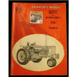 """ IH International Harvester Operator's Manual McCormick Farmall & Interantional 706 Tractors"" cover"