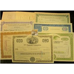 "Selection of memorabilia including Stock Certificates from ""Bankers National Life Insurance Company"""