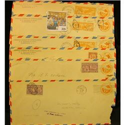 Pack of (6) Airmail envelopes, 1930 era. All the same.