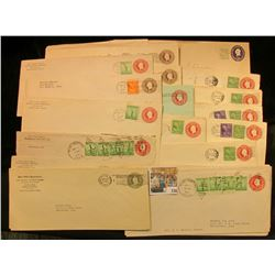 Pack of (28) miscellaneous Stamped envelopes.