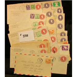 (30) Embosed Stamped Envelopes Misc. Varieties Used.