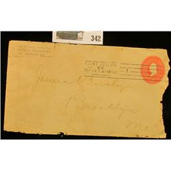 1900 2c Embosed Envelope Canciled Saint Joseph Mo.