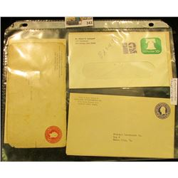 (6) Uncanciled Embosed Envelopes.