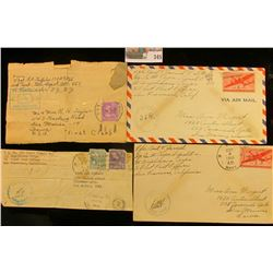 (4) Envelopes WWII Censored Mail.