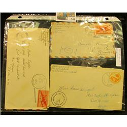 (6) Envelopes WWII Censored Mail.