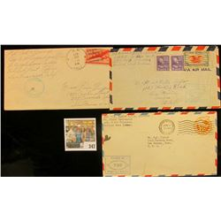 (3) Envelopes WWII Censored Mail.