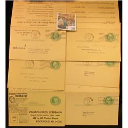 (6) 1c Used George Washington Postal Cards with 1c Martha Washington Unused Reply Cards.