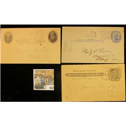 (3) Used Postal Cards 1902-1911 Era.