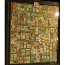 "20"" X 24"" Picture Frane with about 200 Used US. Stamps."