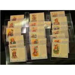 "Complete Set of No. 1-40 ""American Indian Chiefs"" Red Man Chewing Tobacco Cards. ""The colorful & int"