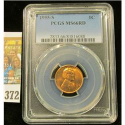 1955 S Lincoln Cent. Slabbed PCGS MS66RD