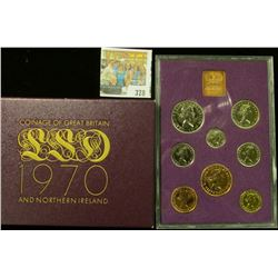 "1970 Proof Coinage of ""Great Britain & Northern Irel& "" in original box of issue. (7 piece plus the"