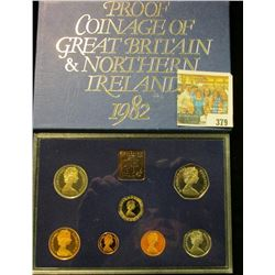 "1982 Proof Coinage of ""Great Britain & Northern Irel& "" in original box of issue. (7 piece plus the"