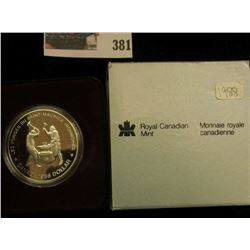 1988 Royal Canadian Mint Proof-like Silver Dollar.
