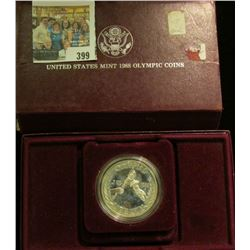 1988 S Olympics Proof Silver Dollar in original case as issued.